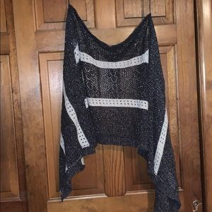 Black and white holed sweater